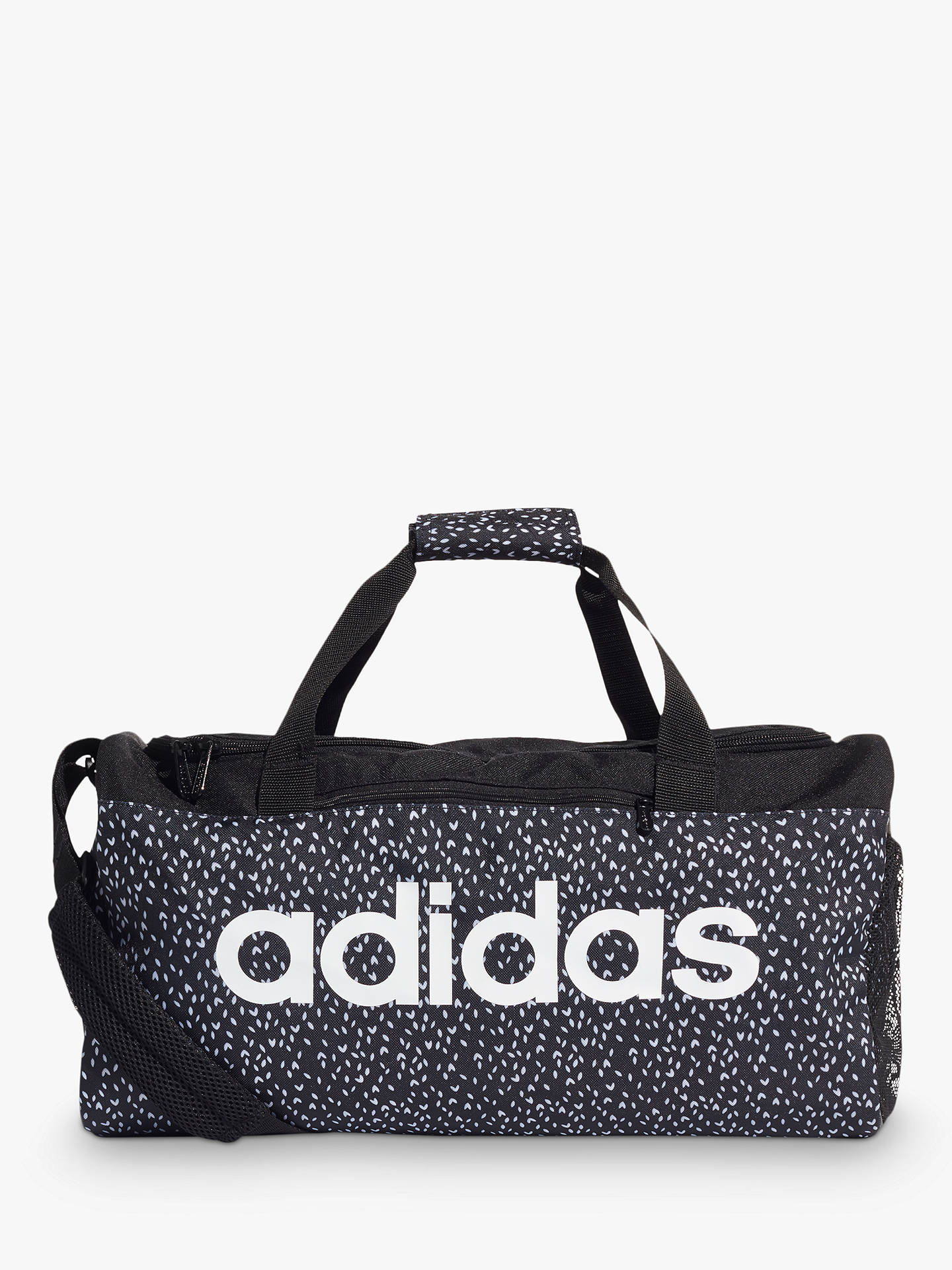 07a0909294c Buy adidas Linear Duffel Bag, Black/White Online at johnlewis.com ...