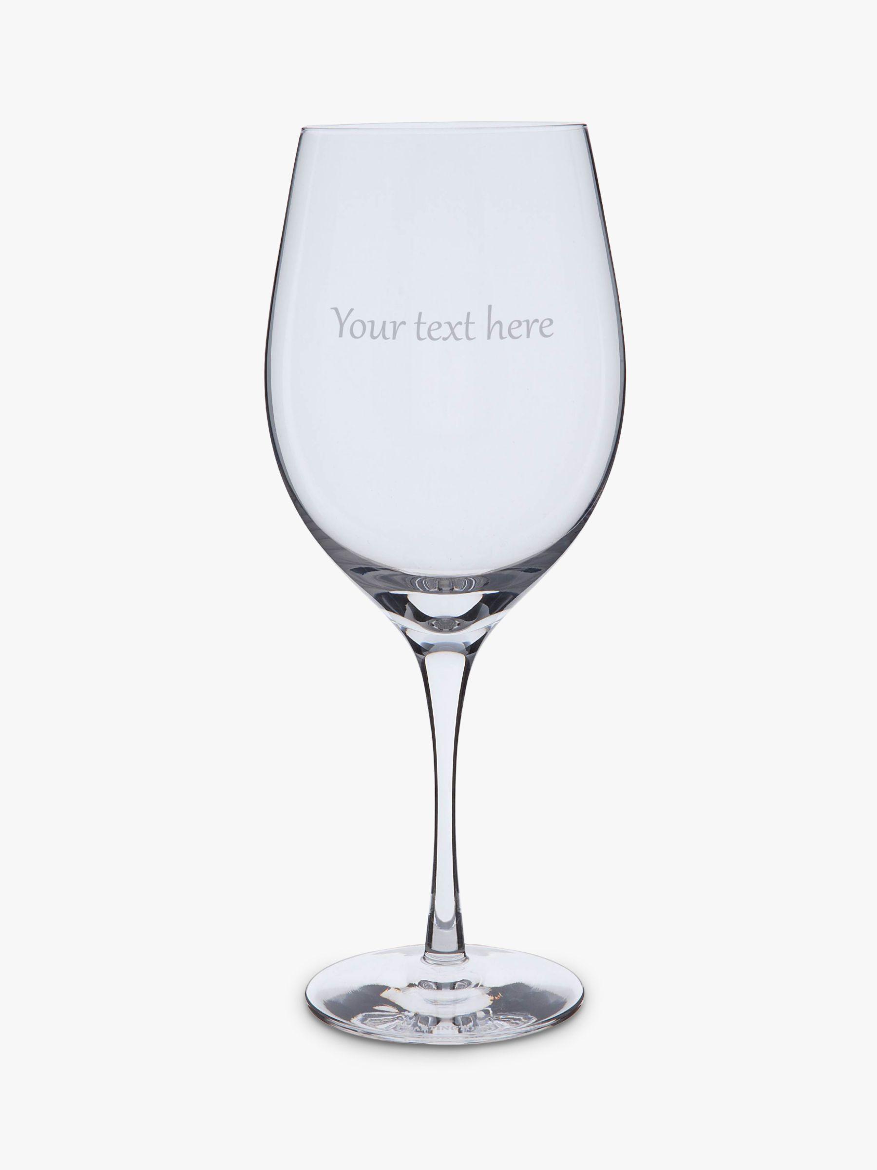 Dartington Crystal Dartington Crystal Personalised Bordeaux Red Wine Glass, Gabriola Font, 600ml