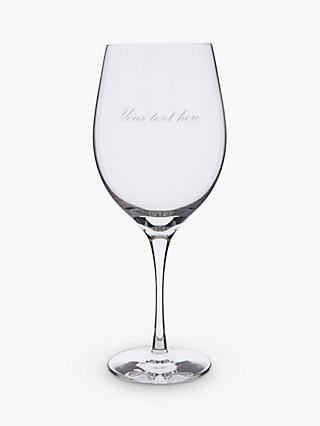 Dartington Crystal Personalised Bordeaux Red Wine Glass, Palace Script Font, 600ml