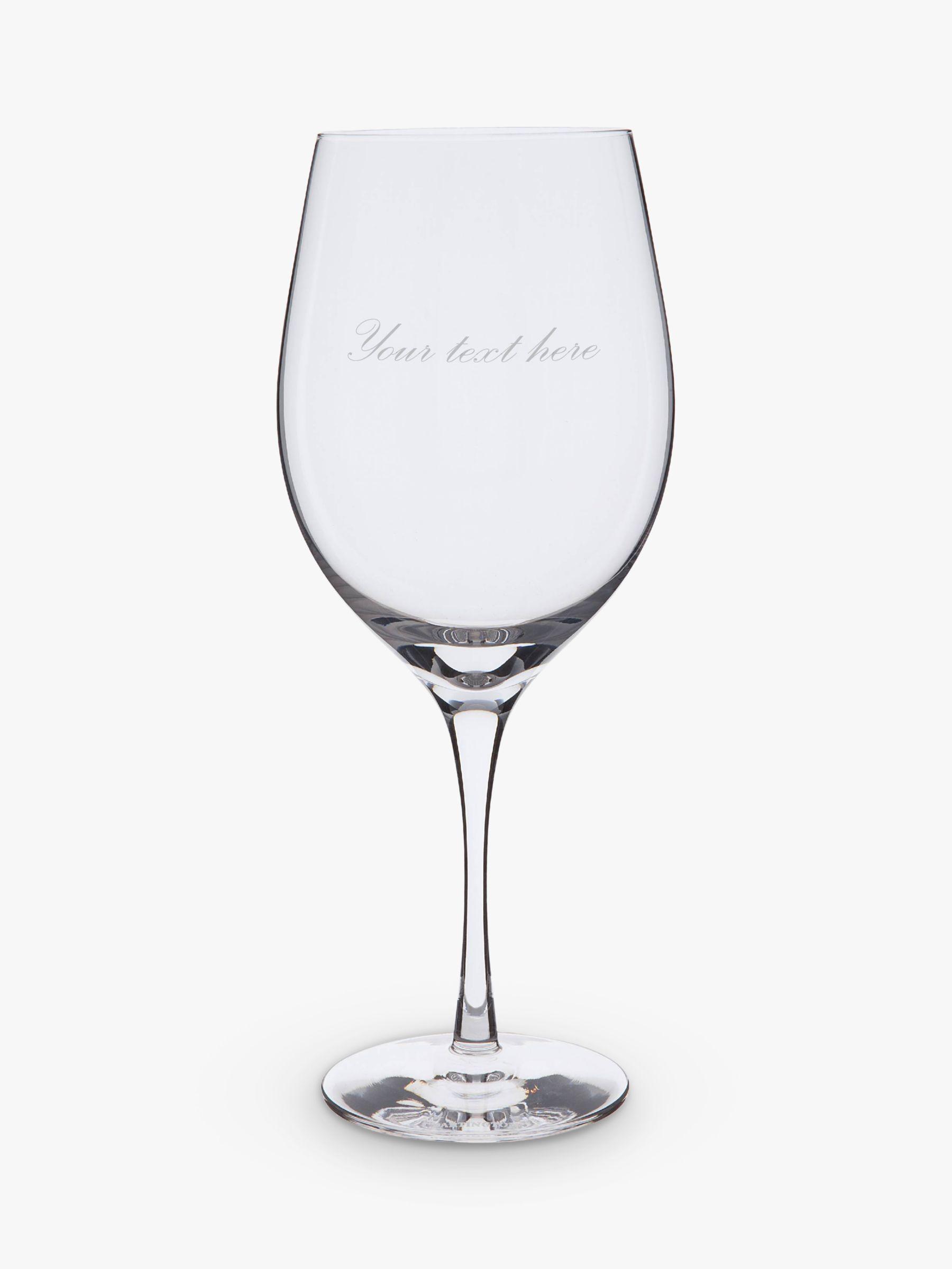 Dartington Crystal Dartington Crystal Personalised Bordeaux Red Wine Glass, Palace Script Font, 600ml