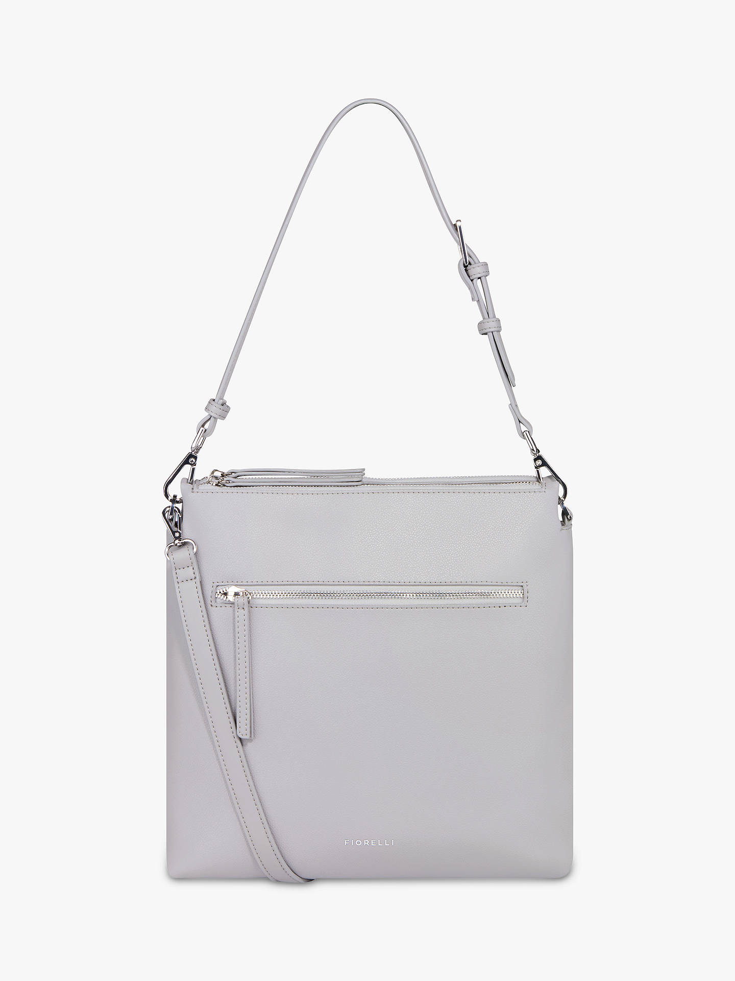 8ba2d638b51 Buy Fiorelli Elliot Cross Body Satchel Bag, Steel Online at johnlewis.com  ...