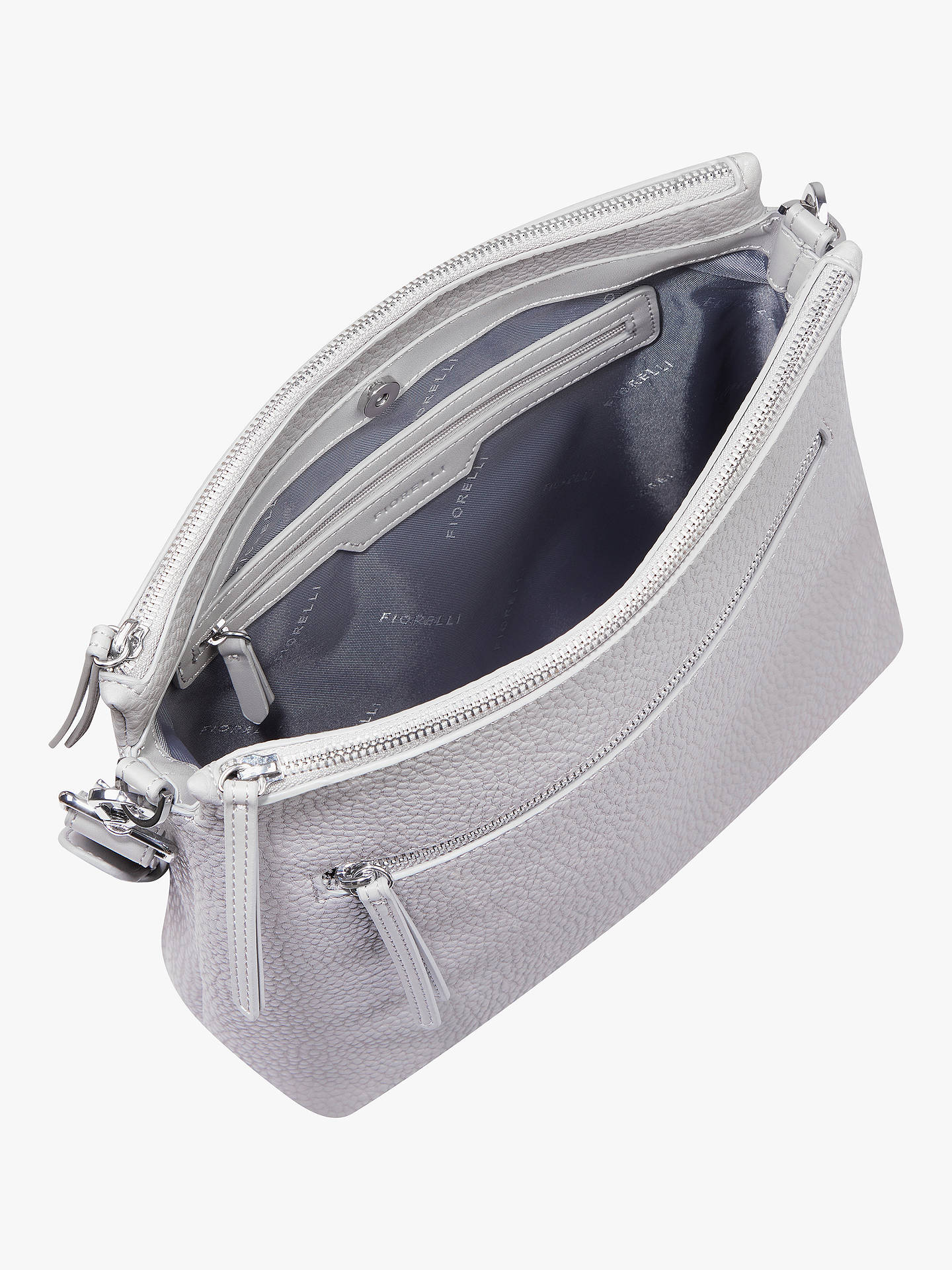 9fa1aac2eb9 ... Buy Fiorelli Elliot Cross Body Satchel Bag, Steel Online at  johnlewis.com ...