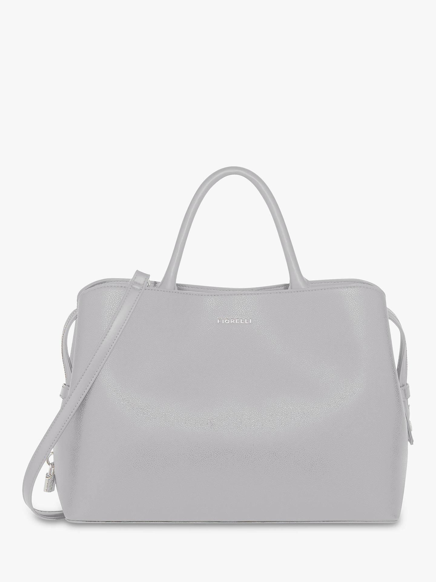 c15e0c0a69ba Buy Fiorelli Bethnal Triple Compartment Grab Bag, Light Grey Online at  johnlewis.com ...