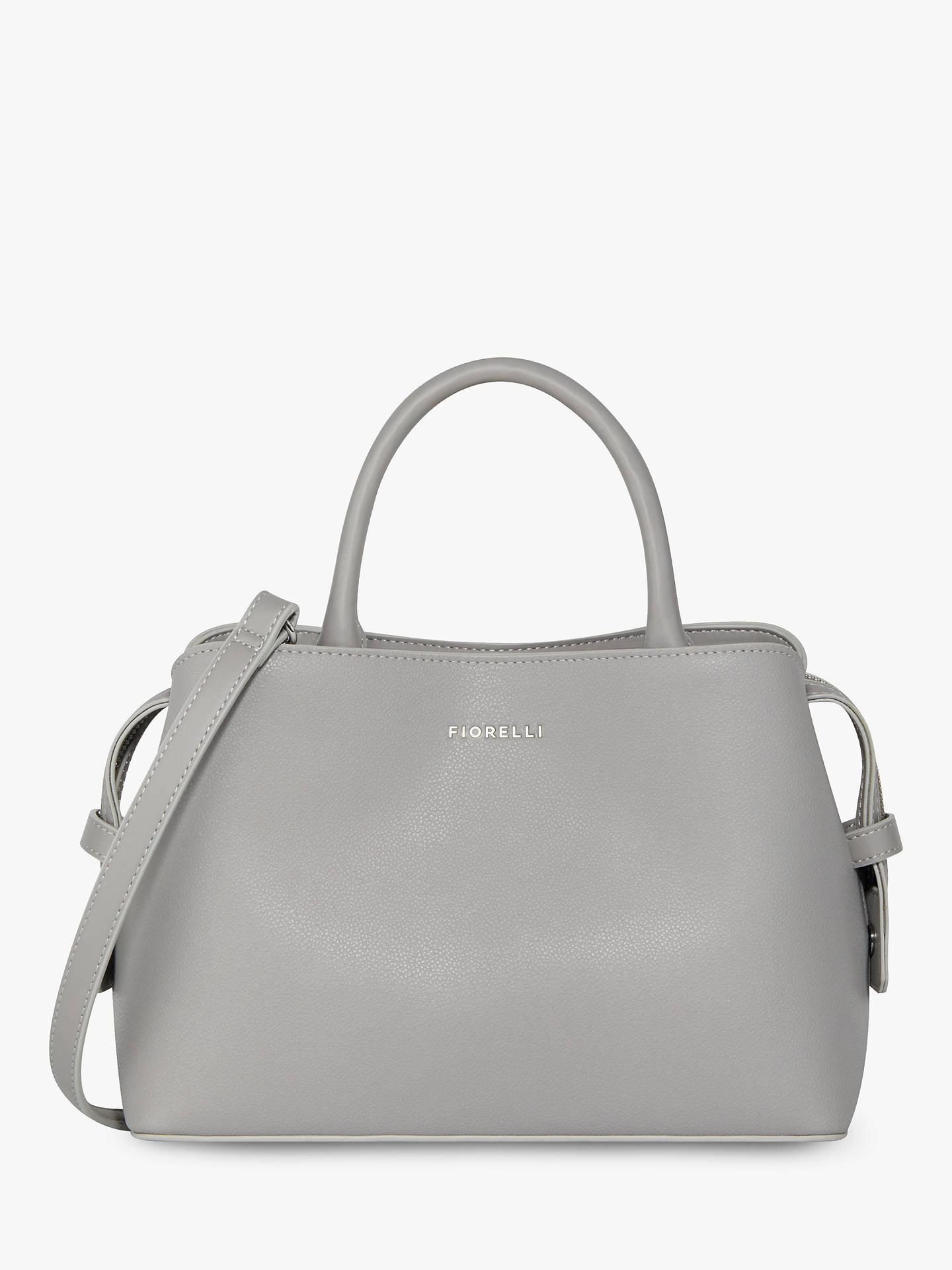 504299b6baf6 Buy Fiorelli Bethnal Triple Compartment Mini Grab Bag, Steel Online at  johnlewis.com ...