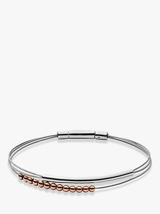 Skagen Elin Ball Bead Double Bracelet, Silver/Rose Gold SKJ1179998