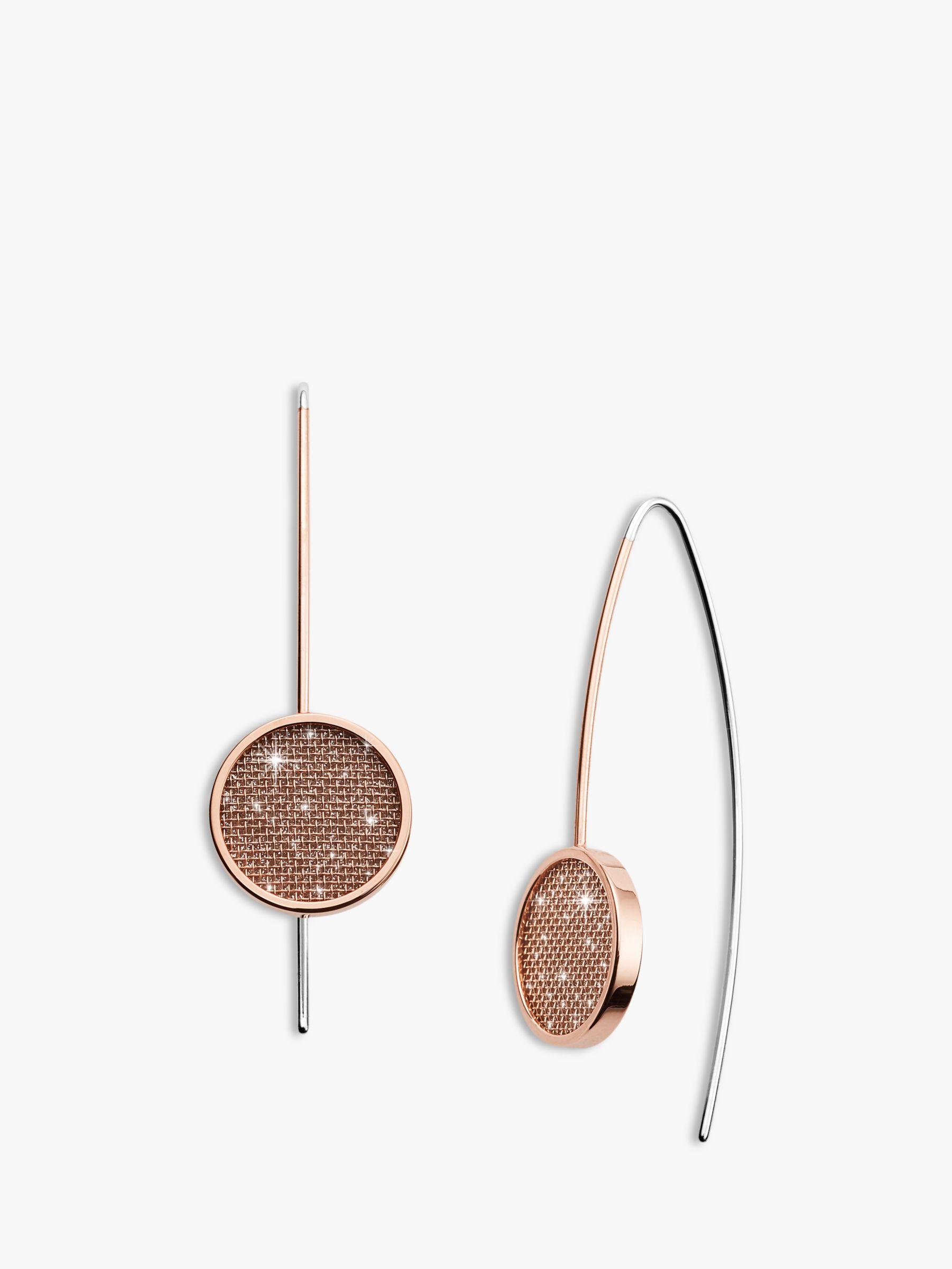 skagen Skagen Merete Mesh Drop Earrings, Rose Gold SKJ1174791