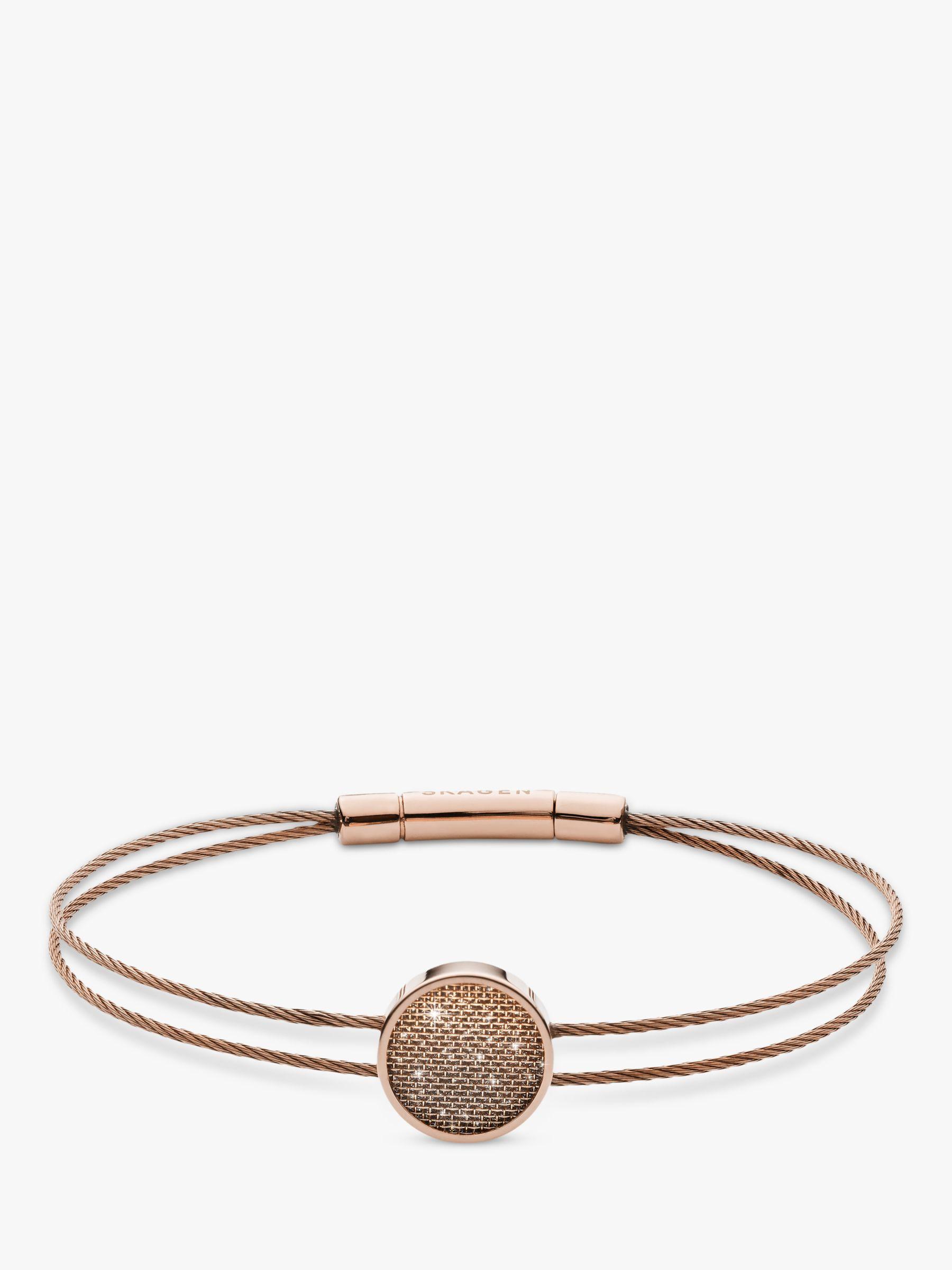skagen Skagen Merete Mesh Circle Bracelet, Rose Gold SKJ1176791