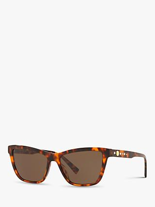 Versace VE4354B Women's Cat's Eye Sunglasses, Tortoise/Brown