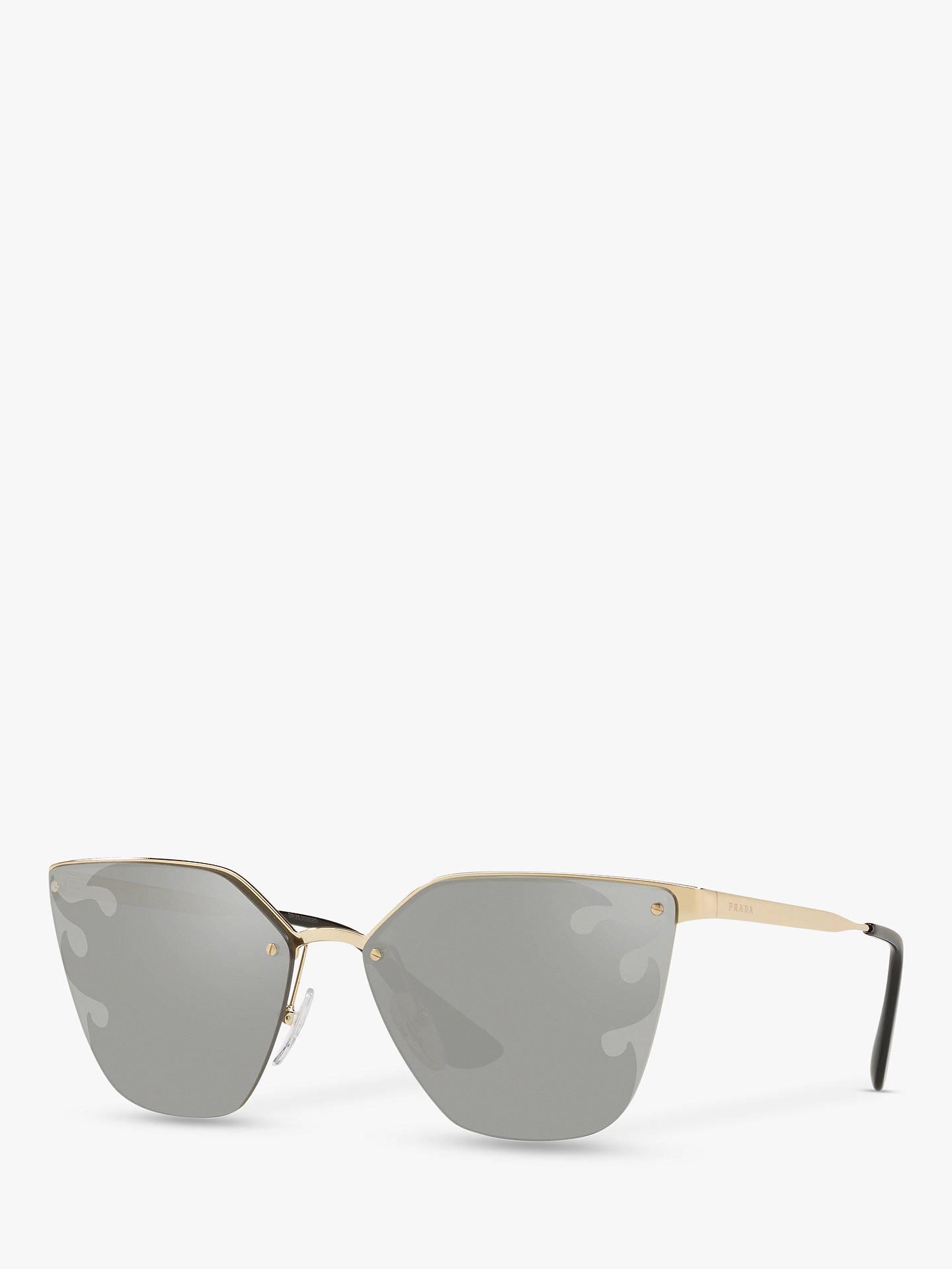 4f2e100ad Buy Prada PR 68TS Women's Cat's Eye Sunglasses, Gold/Mirror Silver Online  at johnlewis ...