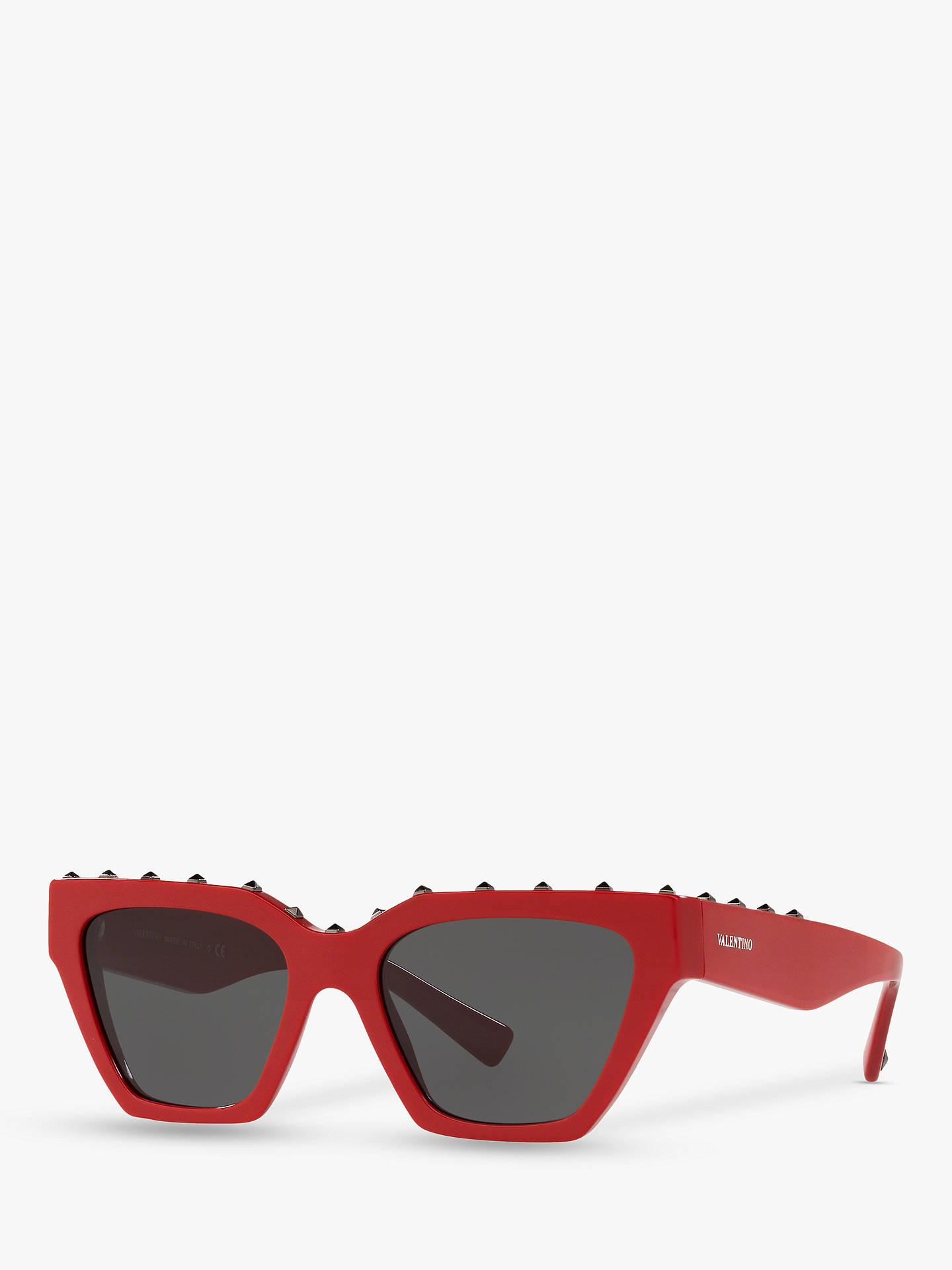 42ea78113760f Valentino VA4046 Women s Studded Square Sunglasses at John Lewis ...