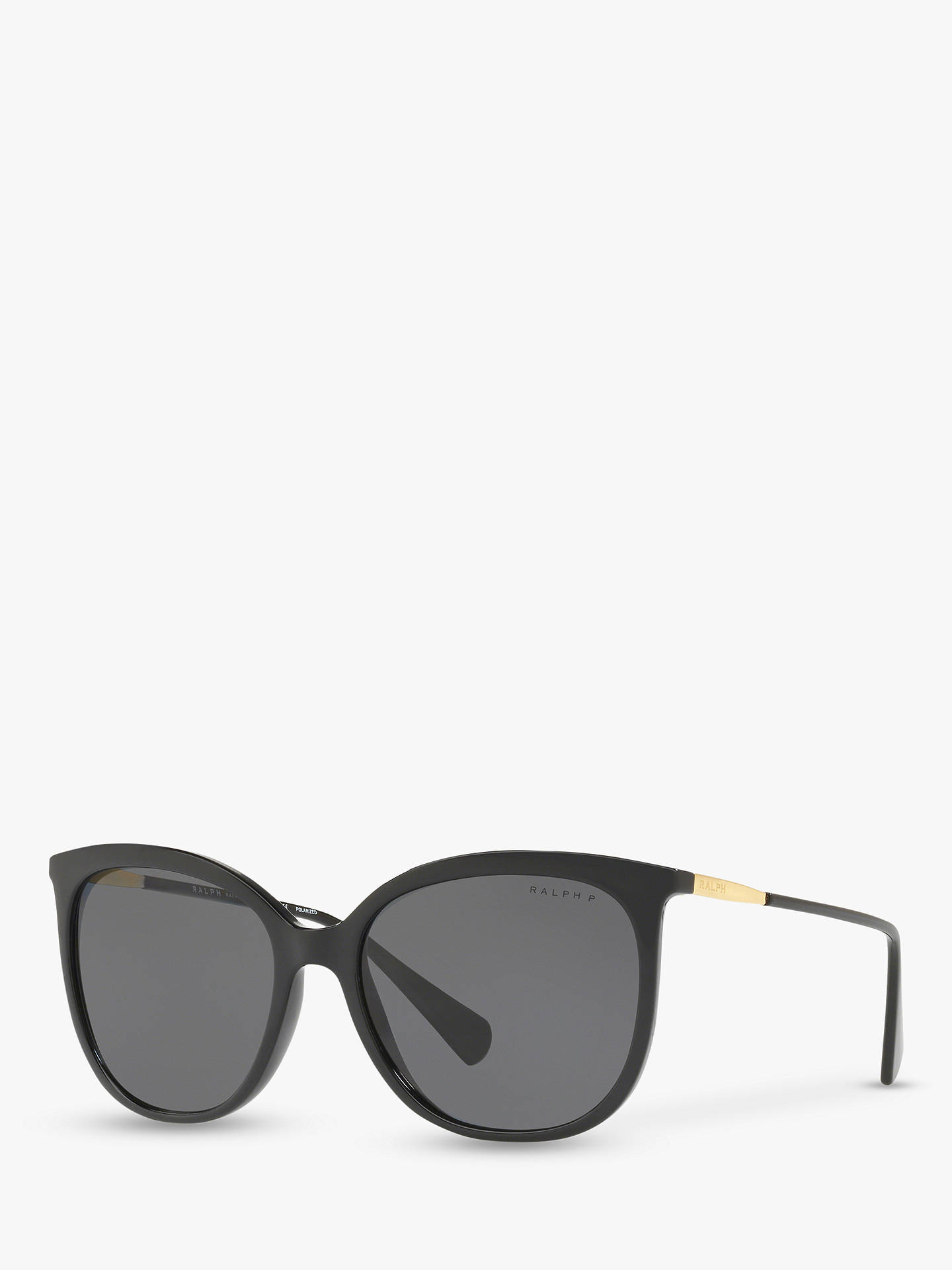 1127b1ac8734 Buy Polo Ralph Lauren RA5248 Women's Butterfly Sunglasses, Black/Grey  Polarised Online at johnlewis ...