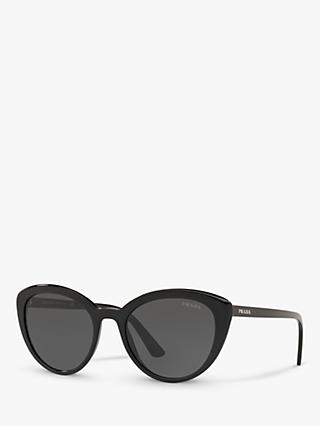 Prada PR 02VS Women's Cat's Eye Sunglasses, Black/Grey