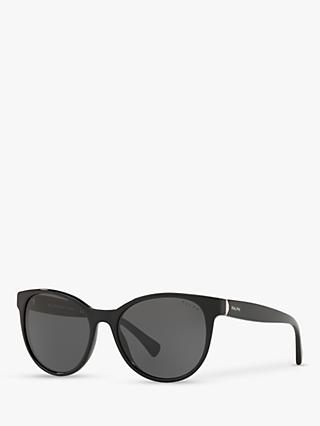 Ralph RA5250 Women's Cat's Eye Sunglasses, Black/Grey