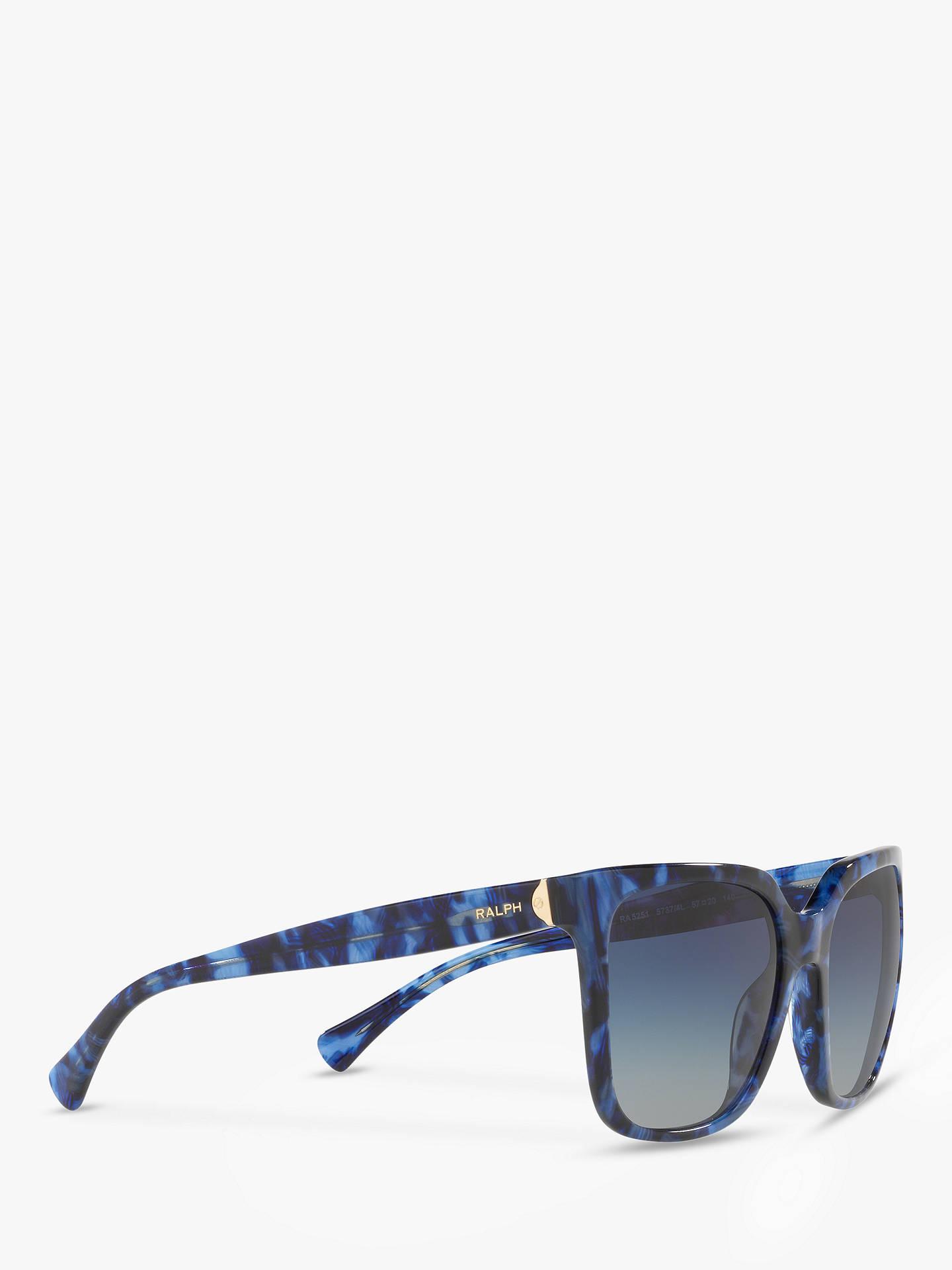 6707242e5551 ... Buy Polo Ralph Lauren RA5251 Women's Square Sunglasses, Blue  Marble/Grey Gradient Online at