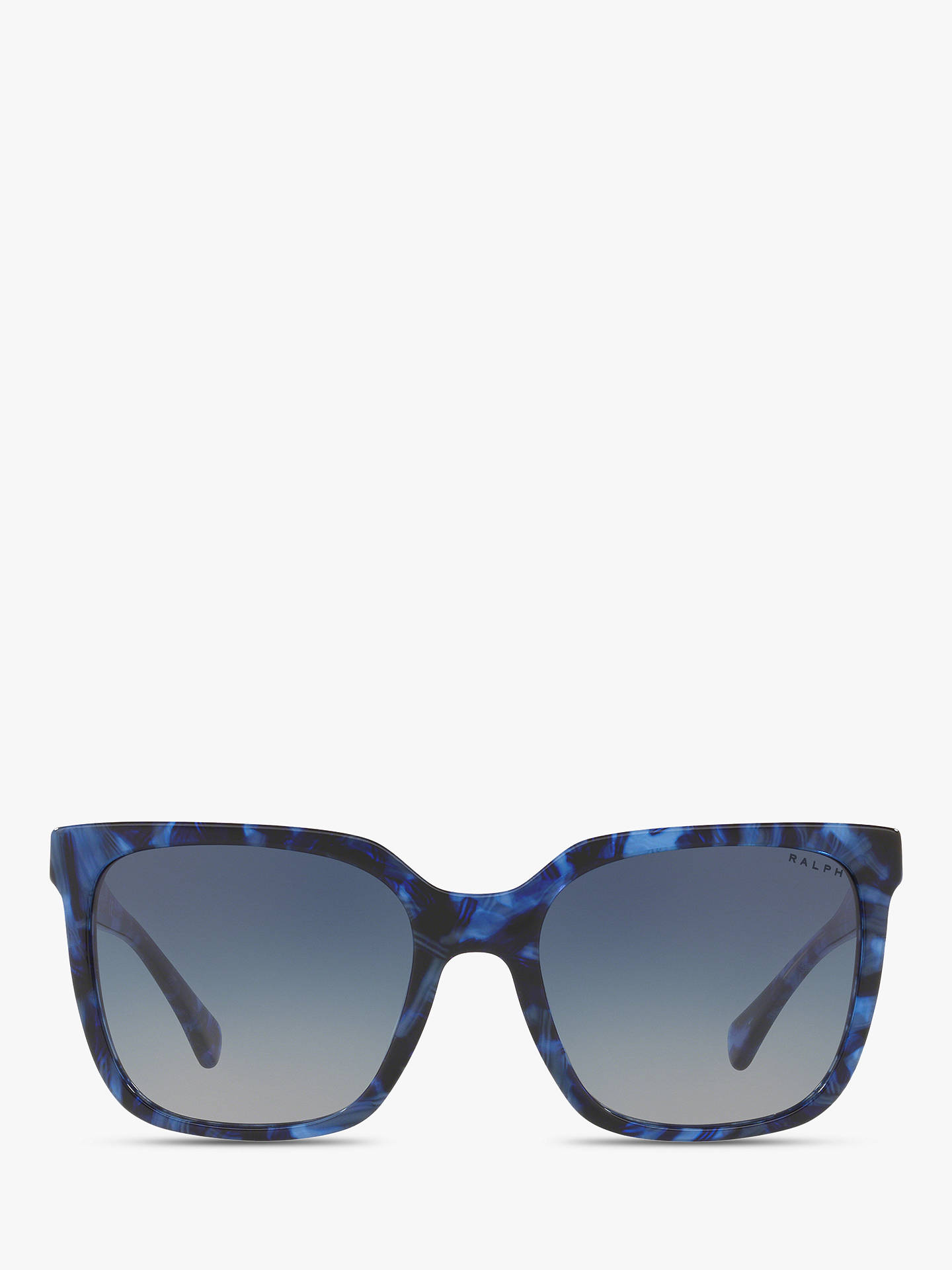 b299c2b02619 ... Buy Polo Ralph Lauren RA5251 Women's Square Sunglasses, Blue  Marble/Grey Gradient Online at ...