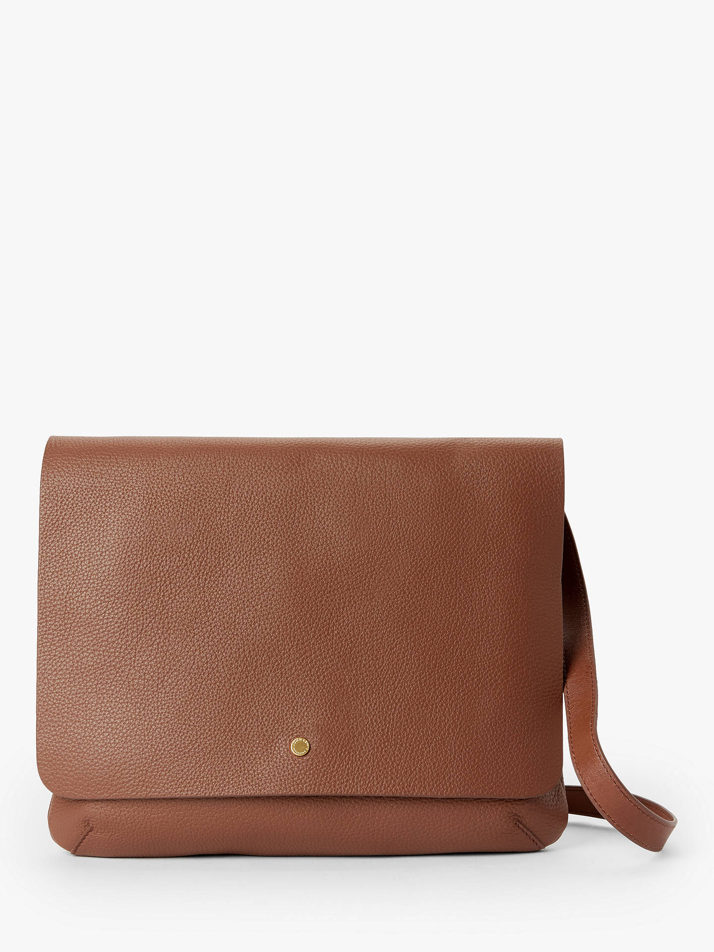 Buy John Lewis & Partners Mae Leather Medium Cross Body Bag, Tan Online at johnlewis.com