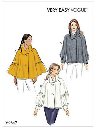 Vogue Very Easy Vogue Women's Top Sewing Pattern, 9347