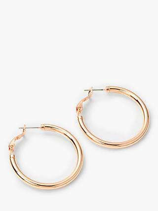 John Lewis & Partners Thick Hoop Earrings