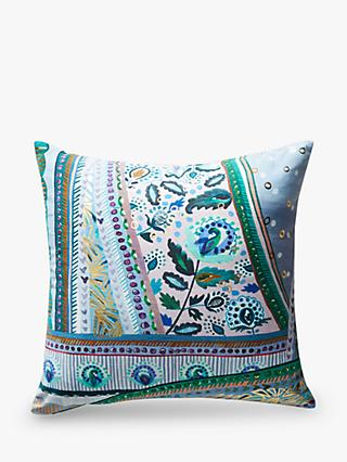 Anthropologie Sunder Square Cushion, Blue