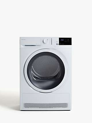 John Lewis & Partners JLTDH24 Heat Pump Freestanding Tumble Dryer, 8kg Load, A+ Energy Rating, White