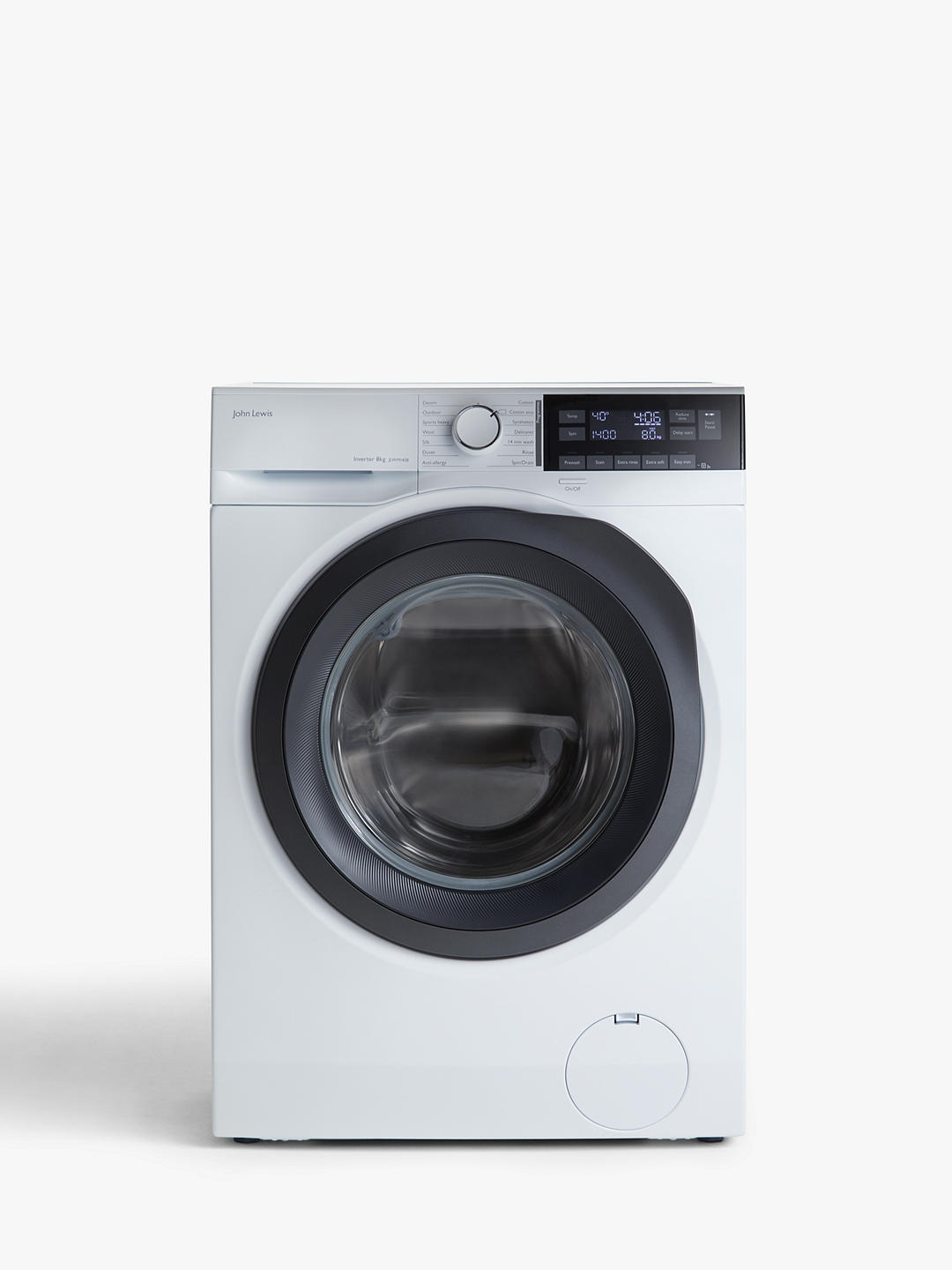 Buy John Lewis & Partners JLWM1428 Freestanding Washing Machine, 8kg Load, 1400rpm Spin White Online at johnlewis.com