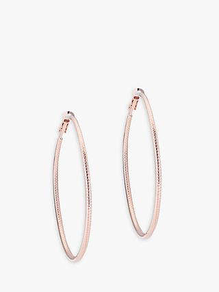 Karen Millen Snake Twist Slim Hoop Earrings