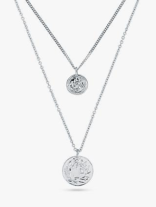 Karen Millen Vintage Coin Layered Necklace