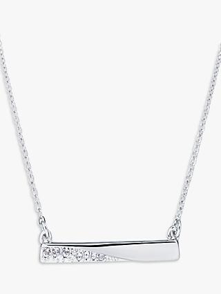 Karen Millen Swarovski Crystal Bar Pendant Necklace