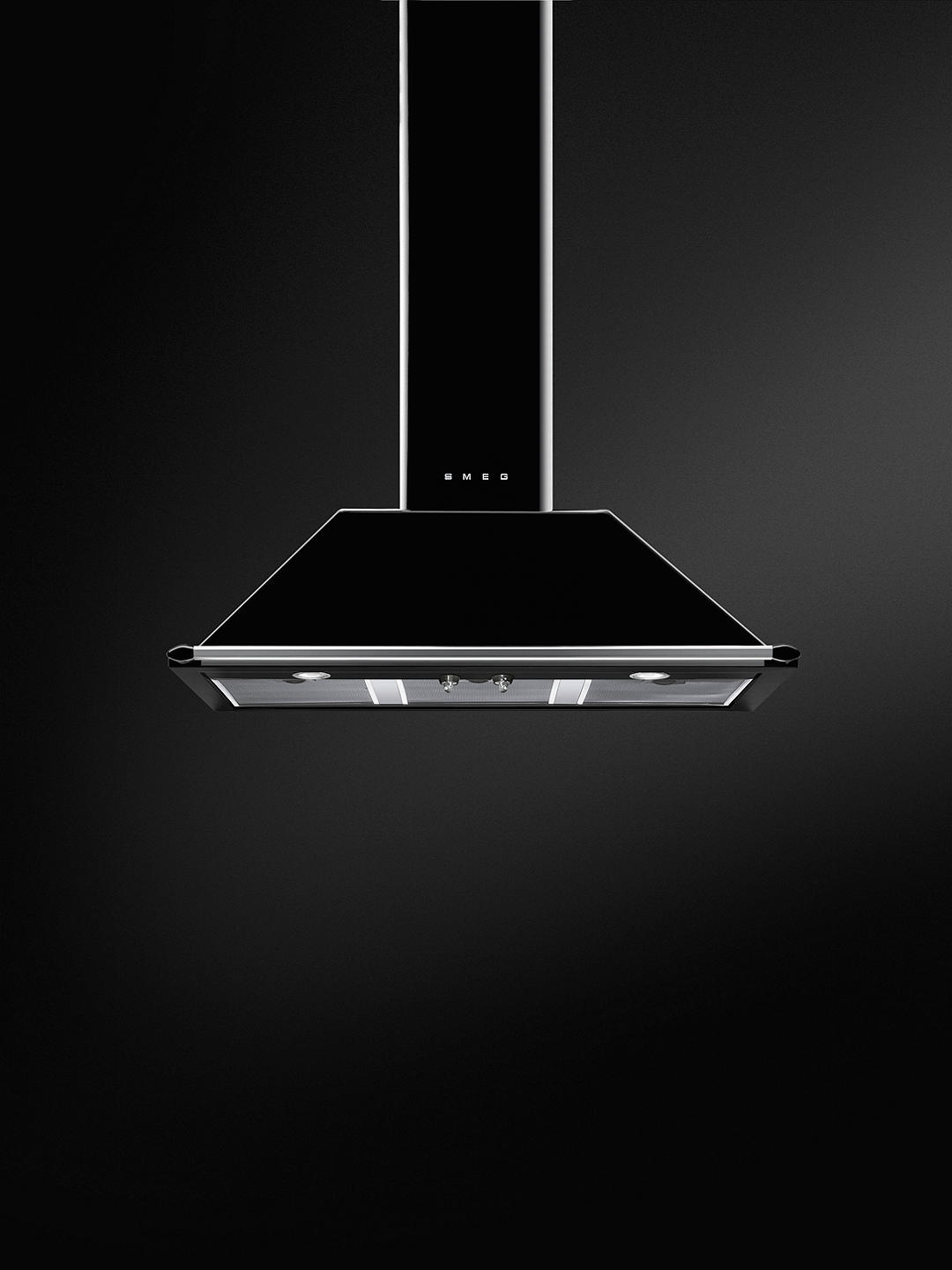 Buy Smeg KT100BLE 100cm Chimney Cooker Hood, Black Online at johnlewis.com