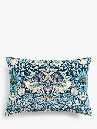 Morris & Co. Strawberry Thief Velvet Cushion
