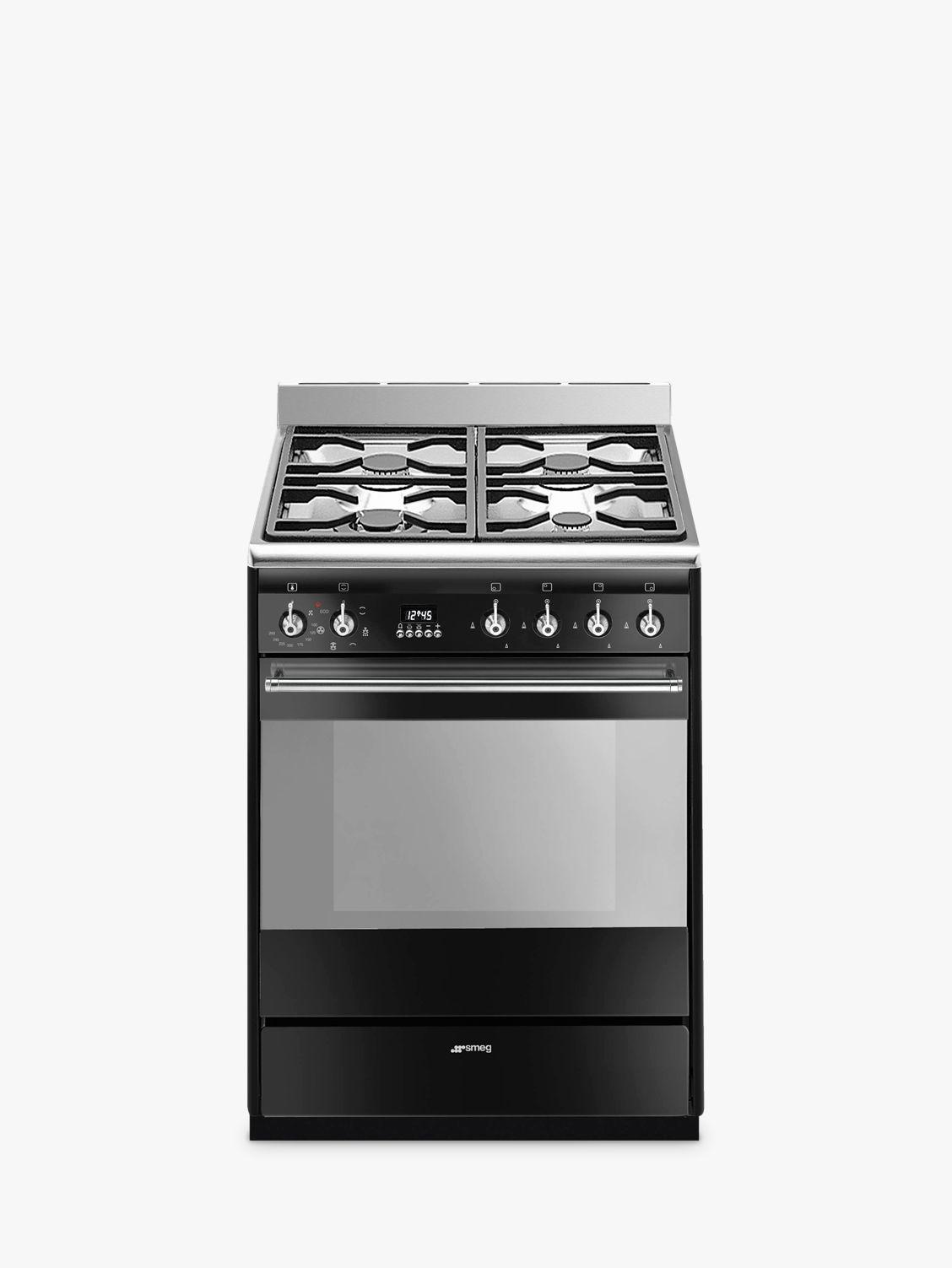 Smeg SUK61MBL9 60cm Dual Fuel Cooker, A Energy Rating, Black