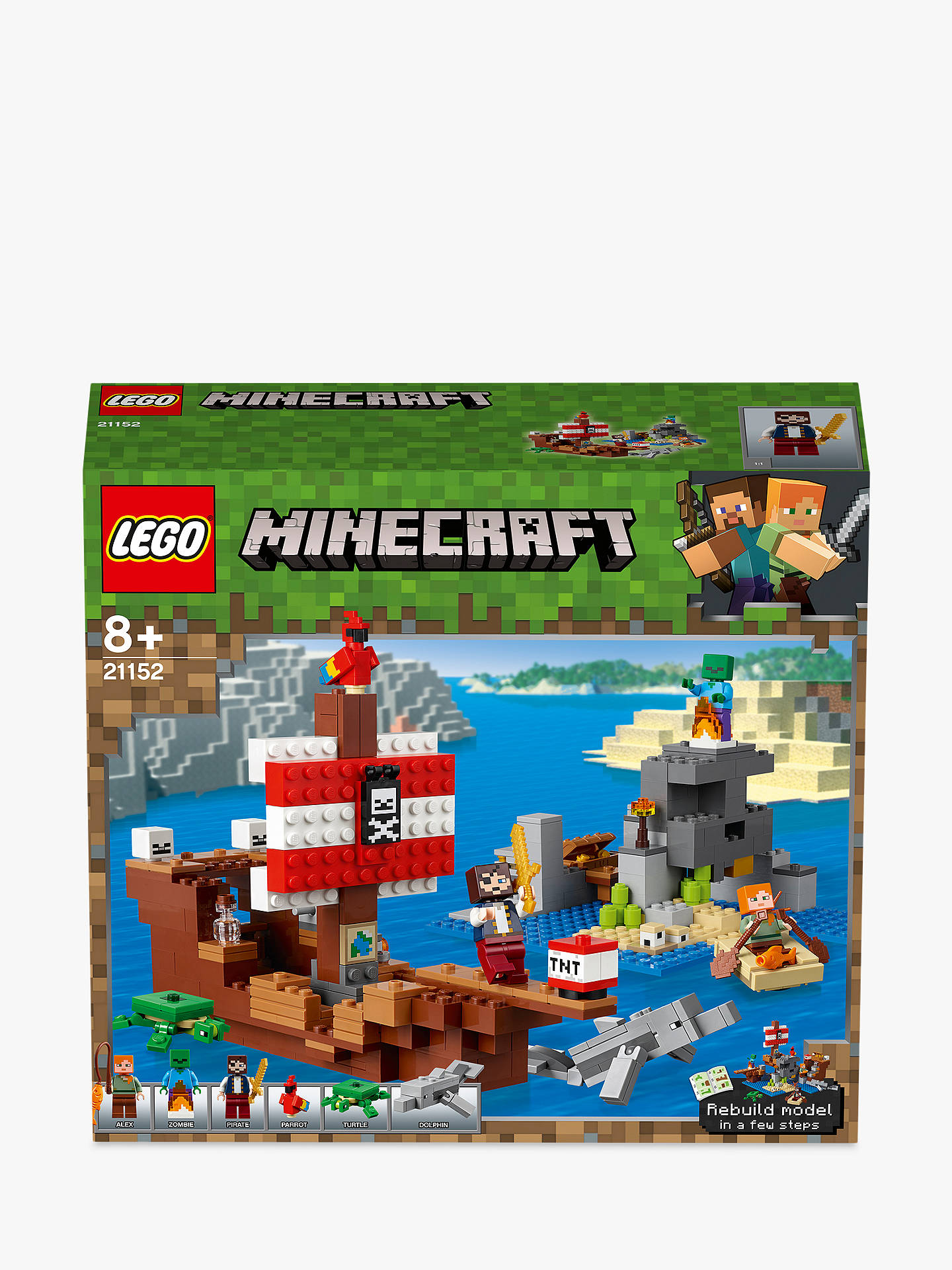 LEGO Minecraft 21152 Pirate Ship Adventure