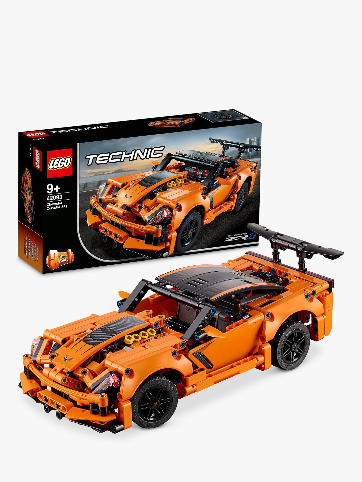 lego technic 42093 collectable car models 2in1 chevrolet corvette zr1 car