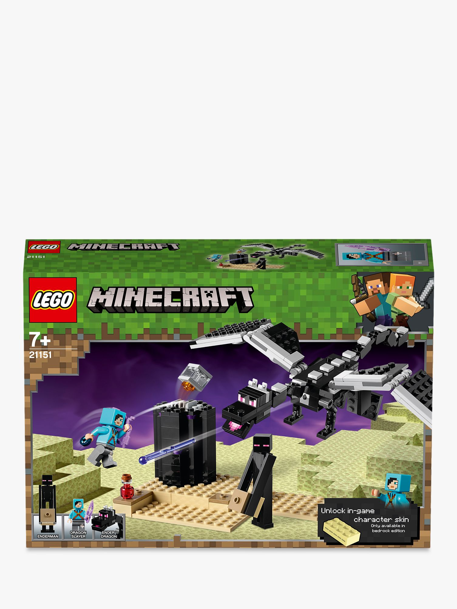 LEGO Minecraft 21151 The End Battle at John Lewis & Partners