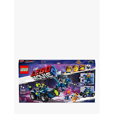 LEGO THE LEGO MOVIE 2 70826 3in1 Rex's Rex Treme Offroader Construction Toys With Minifigures