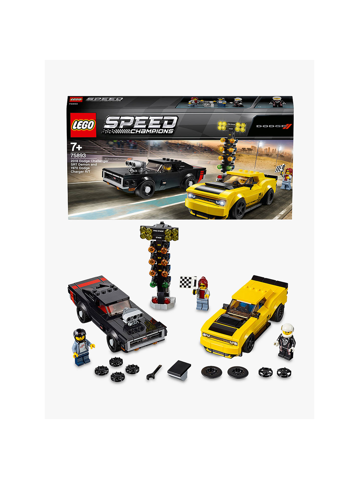 Lego Speed Champions 75893 2018 Dodge Challenger Srt Demon And 1970 Dodge Charger R/T by Lego