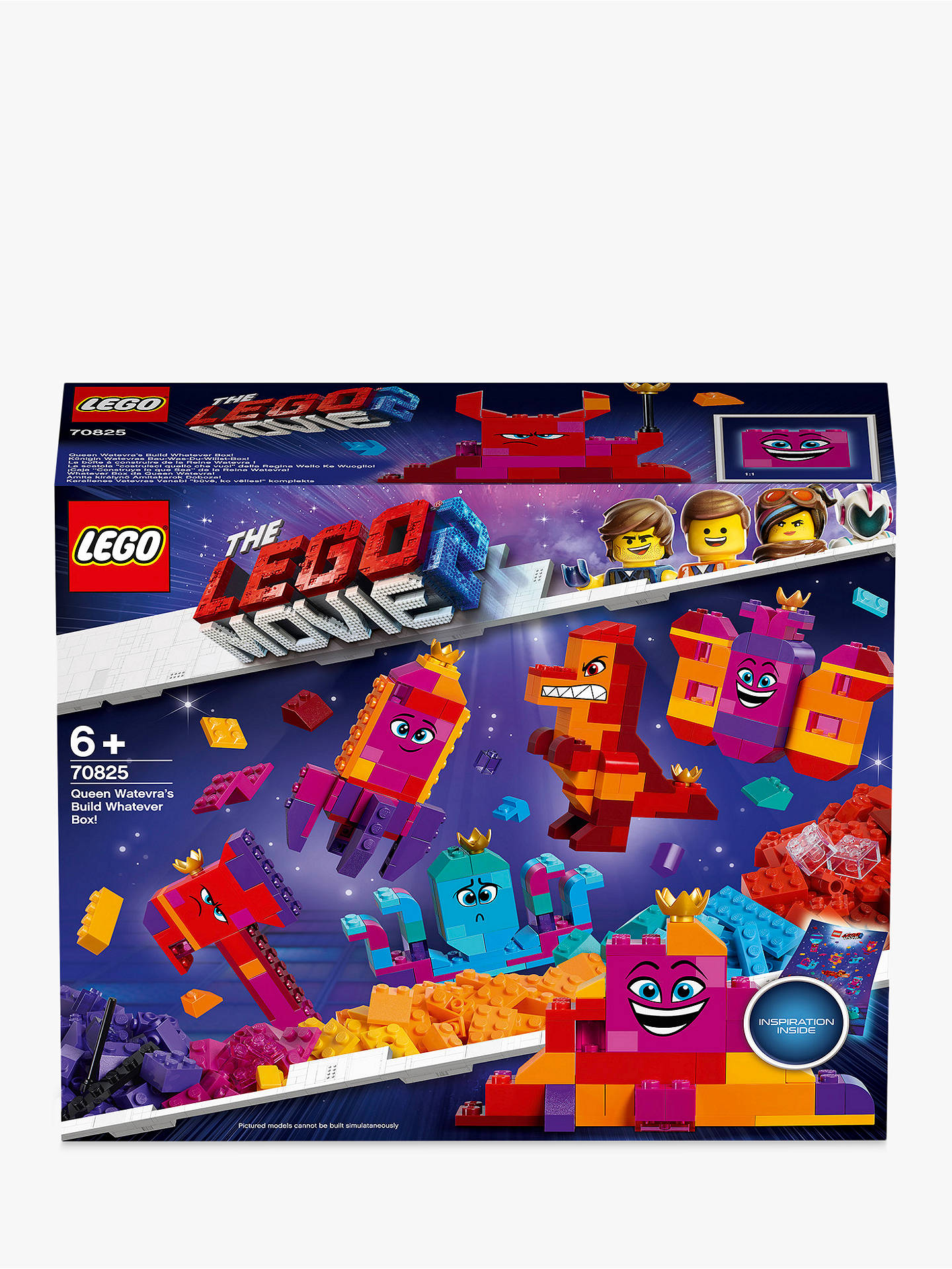 b380e0cbb34 Buy LEGO THE LEGO MOVIE 2 70825 Queen Watevra's Build Whatever Box  Construction Toys with Minifigures ...