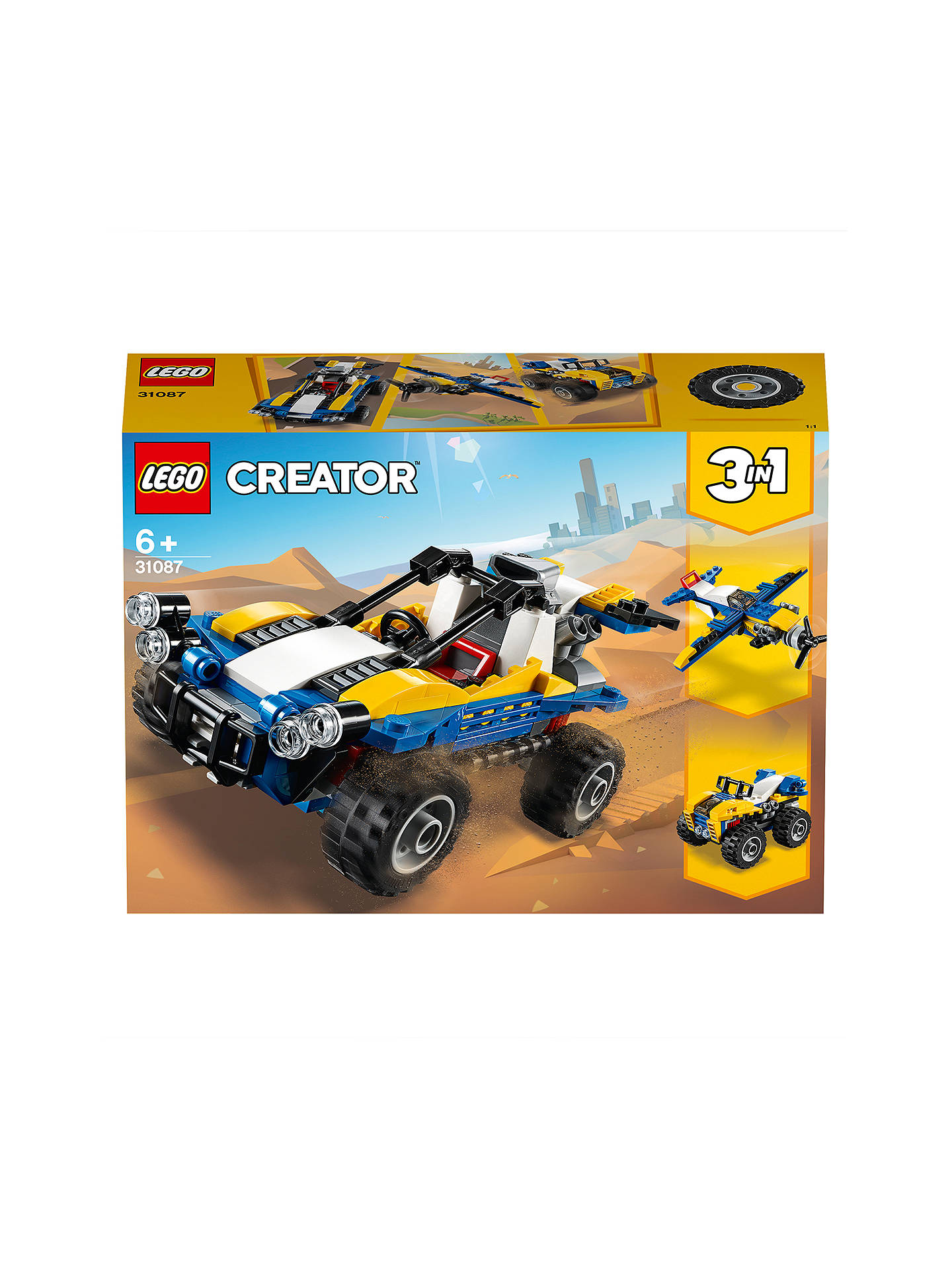 750a43f4062 Buy LEGO Creator 31087 3 in 1 Dune Buggy Online at johnlewis.com ...