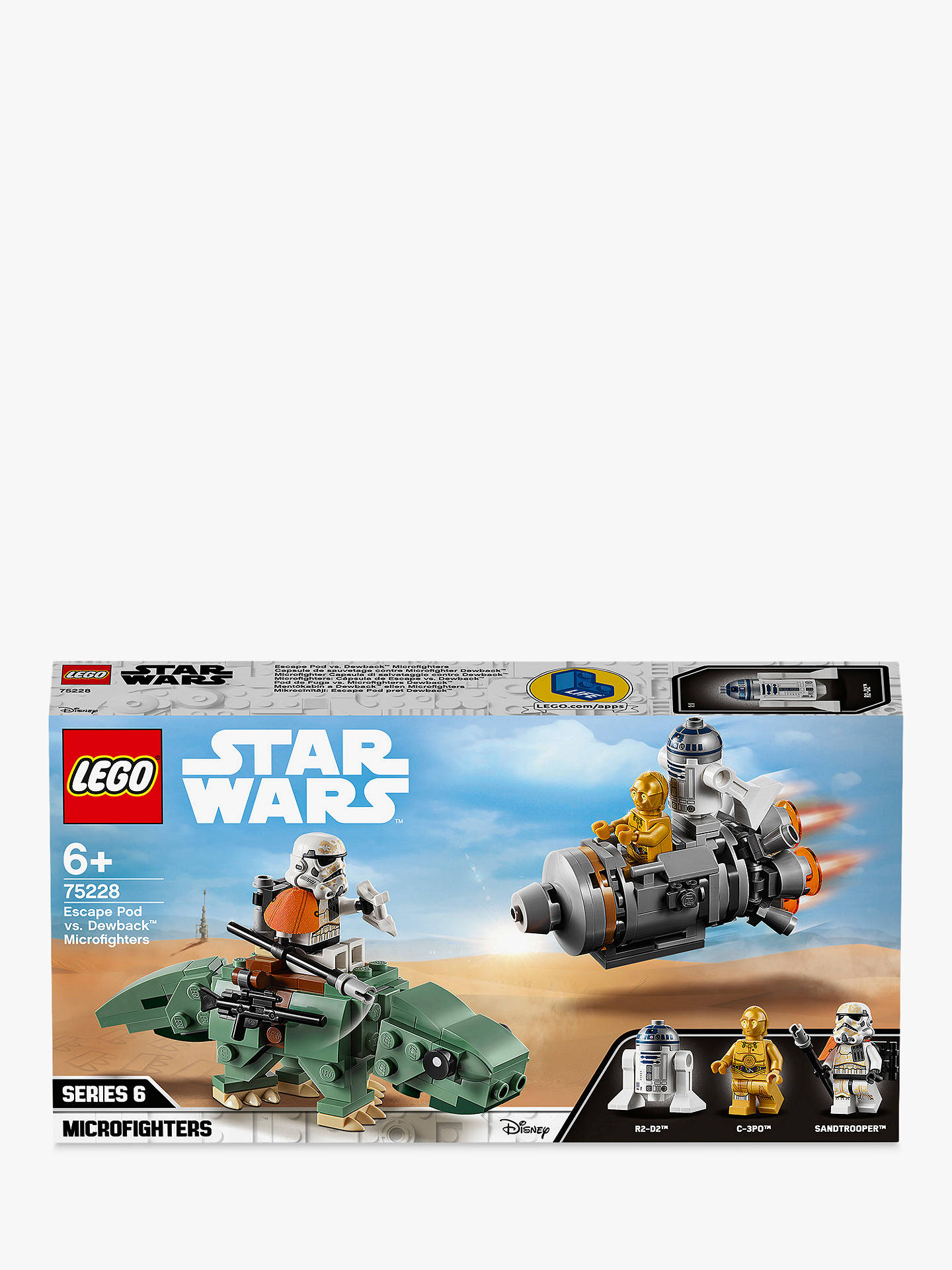 Lego Star Wars 75228 Escape Pod Vs Dewback Microfighters Online At Johnlewis
