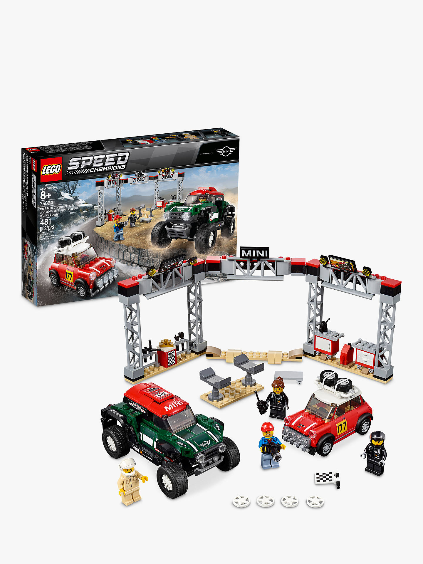 Lego Speed Champions 75894 1967 Mini Cooper S Rally And 2018 Mini John Cooper Works Buggy by Lego