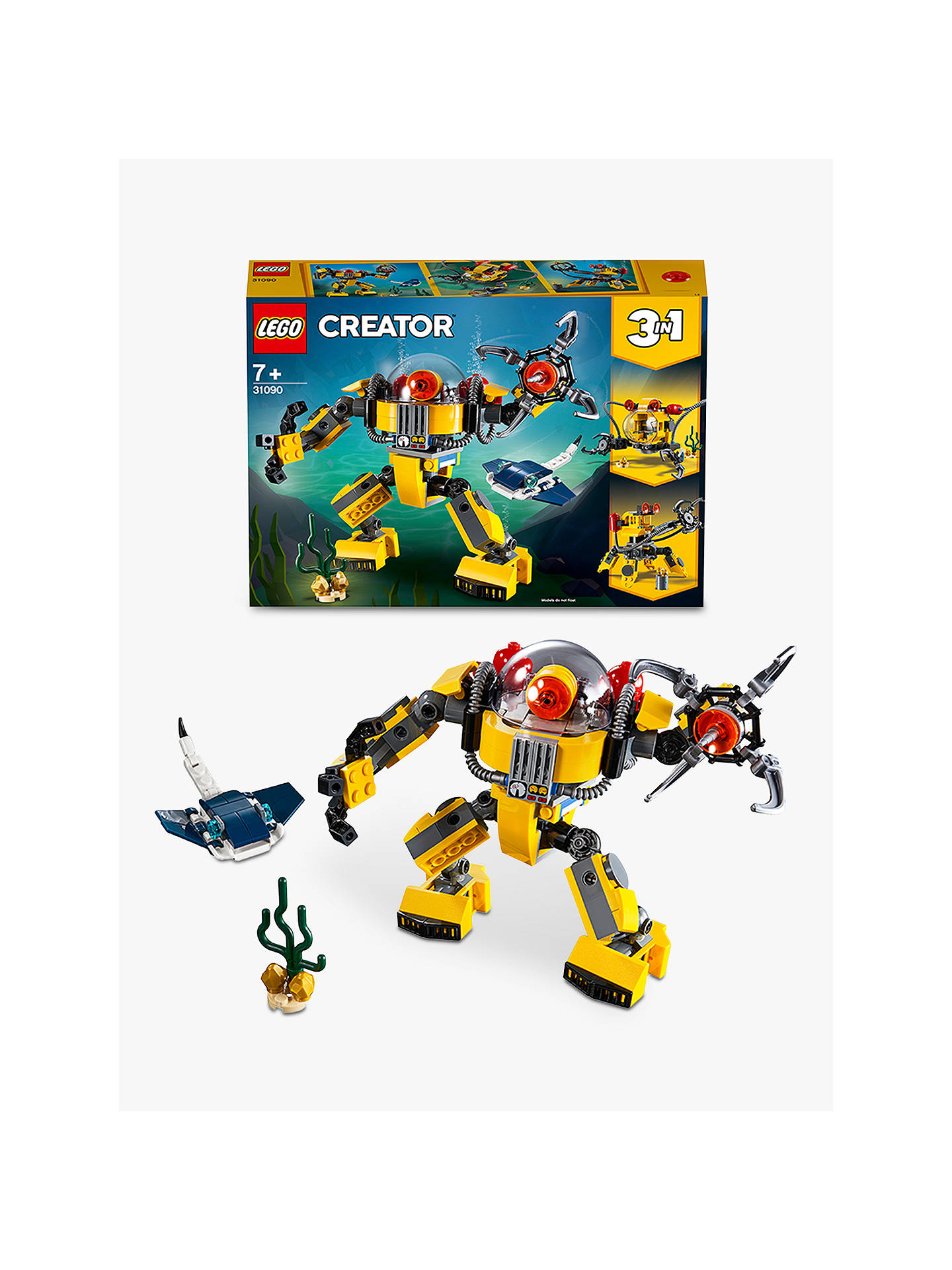 Lego Creator 31090 3 In 1 Underwater Robot At John Lewis Partners