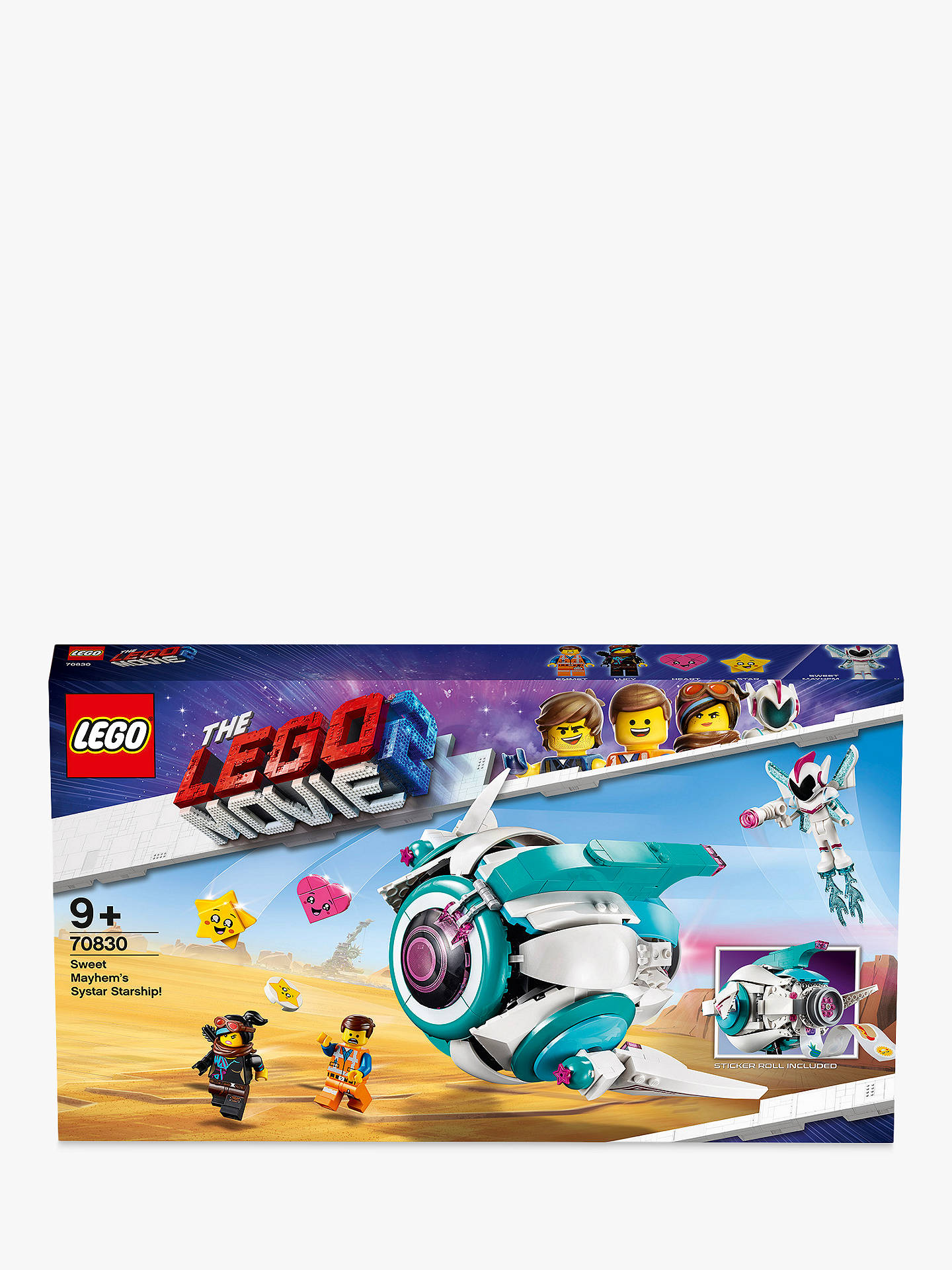 Lego The Lego Movie 2 70830 Sweet Mayhem S Systar Starship At John Lewis Partners