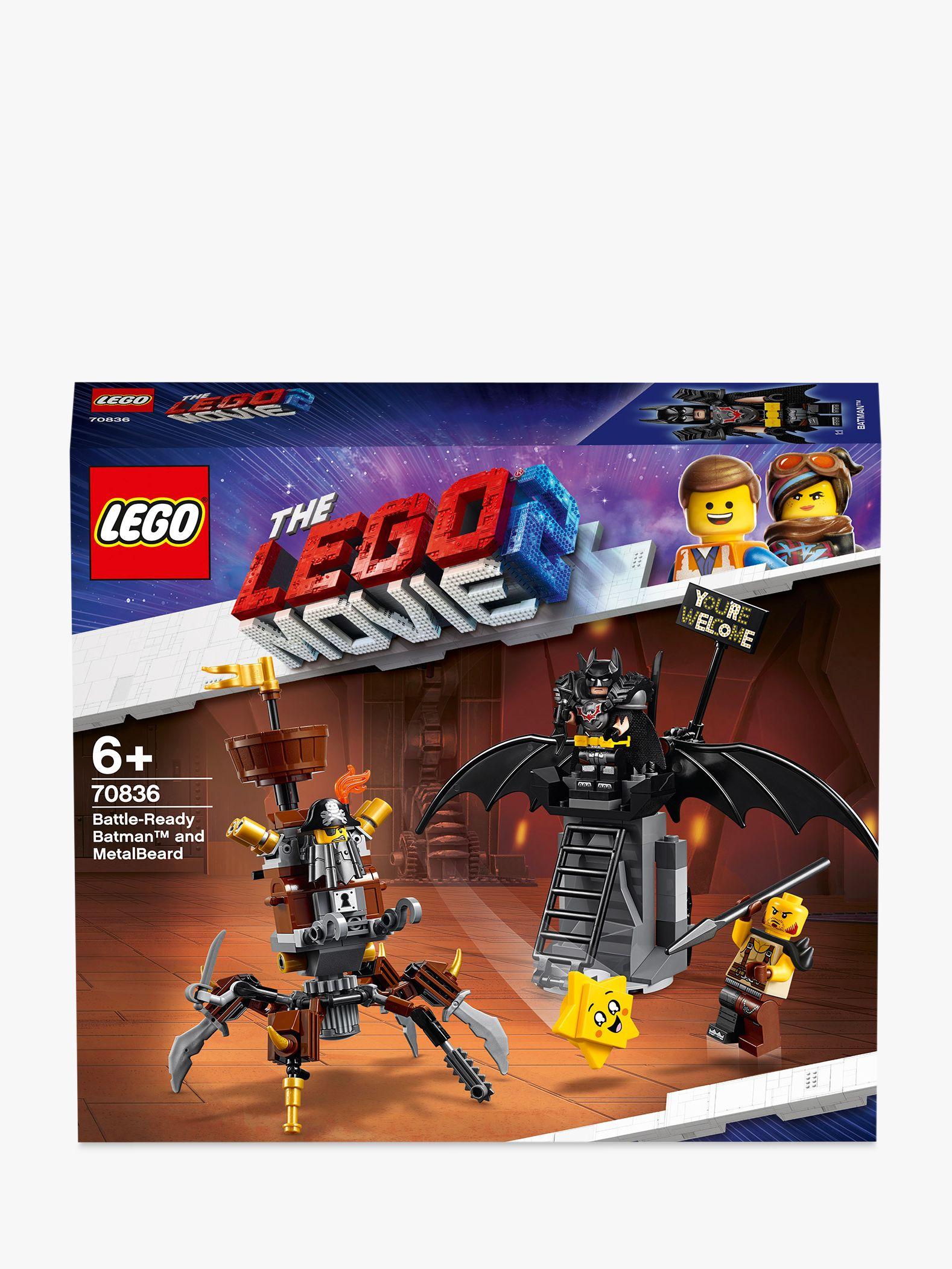 LEGO THE LEGO MOVIE 2 Playtime 70836 Battle-Ready Batman and MetalBeard