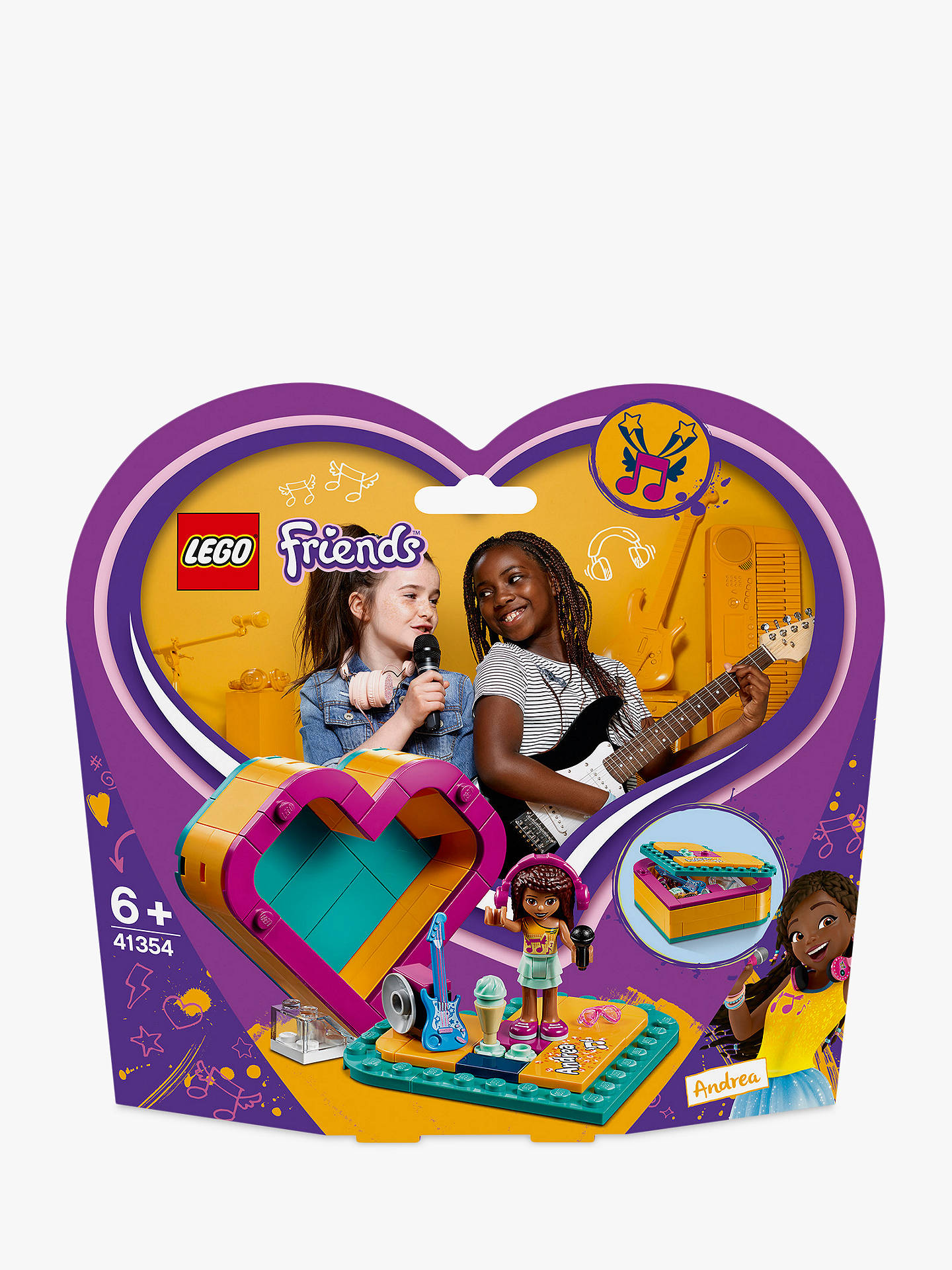 Lego Friends 41354 Andreas Heart Box Doll Playset Toy Storage At