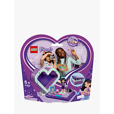 LEGO Friends 41355 Emma's Heart Box, Doll Playset, Toy Storage