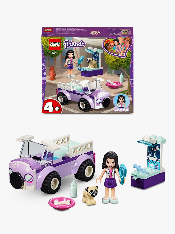 LEGO Friends 41360 Emma's Mobile Vet Clinic Animal Toys Doll Playset