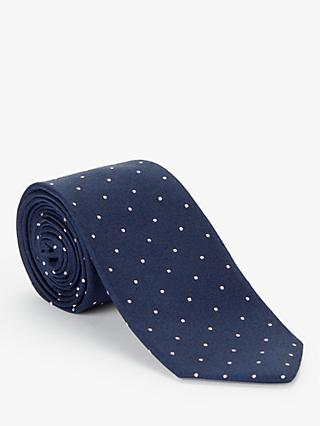 John Lewis & Partners Dot Silk Tie