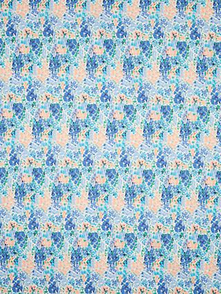 Viscount Textiles Painted Ditsy Floral Print Fabric, Blue