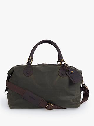 Barbour Wax Cotton Travel Explorer Holdall, Archive Olive