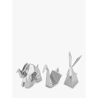 Umbra Origami Ring Holders, Set of 3, Chrome
